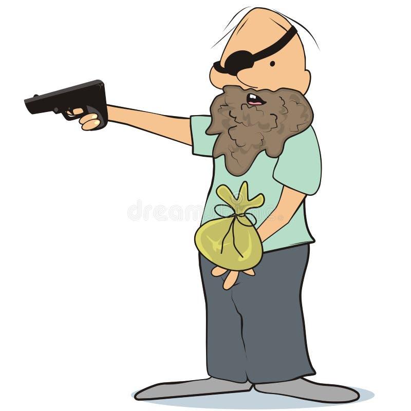 Download Gangster stock vector. Image of attack, burglar, cash - 32039883