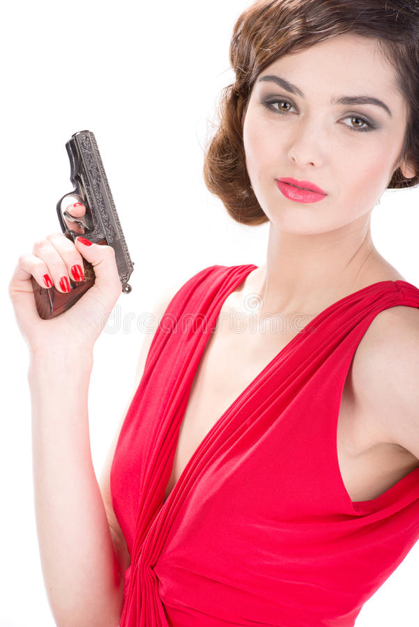Gangsterfrau stockfotos