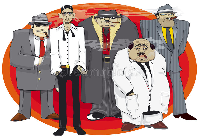 gangstermaffia vektor illustrationer