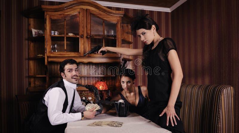 gangsterpengarshare som royaltyfria bilder