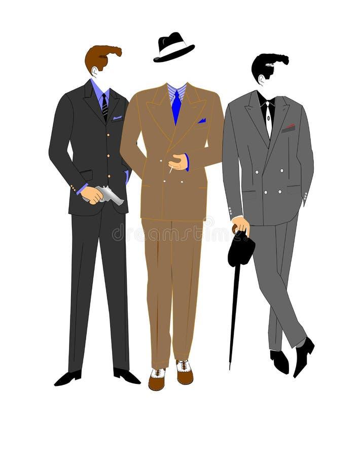 Gangsters stock illustratie