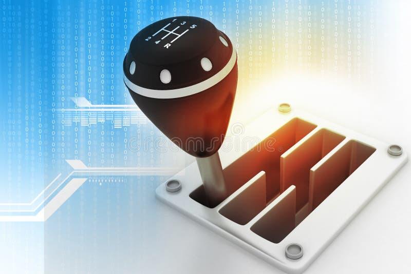 Gangstock auf Technologiehintergrund stock abbildung