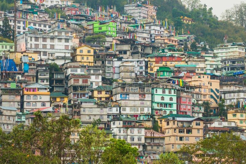 Gangtok la capitale del Sikkim, India immagini stock libere da diritti