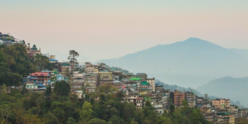 Gangtok o capital de Sikkim, Índia foto de stock royalty free