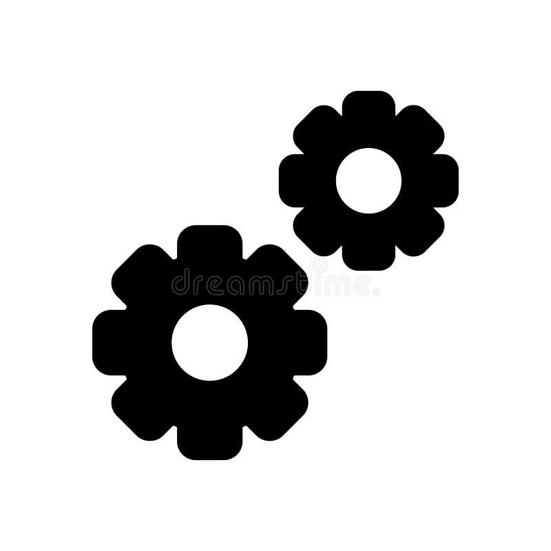 Gangvektorikone Illustration mit zwei Gängen Feste lineare Ikone stock abbildung