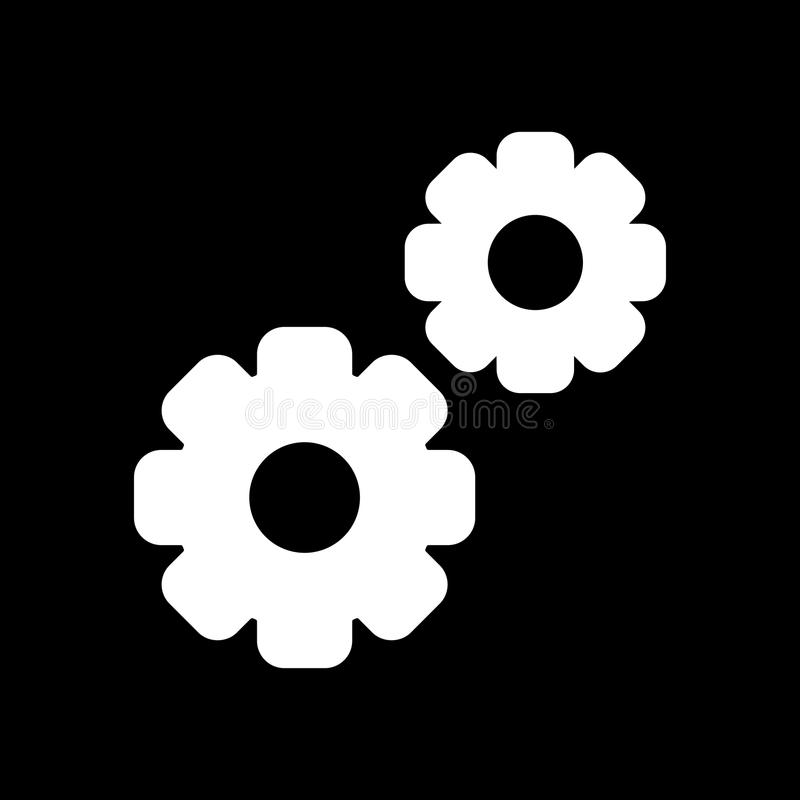 Gangvektorikone Schwarzweiss-Illustration mit zwei Gängen Feste lineare Ikone stock abbildung