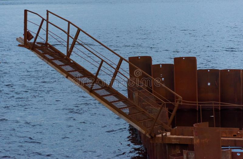 Gangway dla wsiadać statek obraz stock