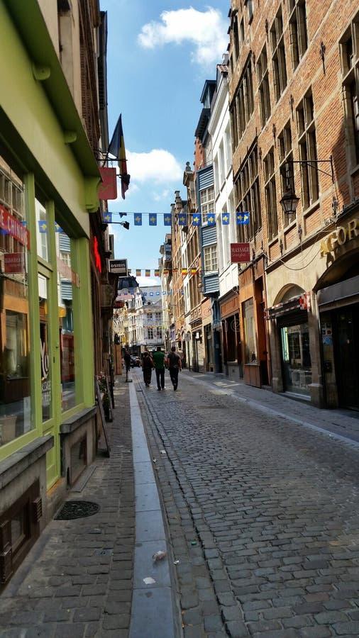 Gangweg in Brussel royalty-vrije stock afbeeldingen