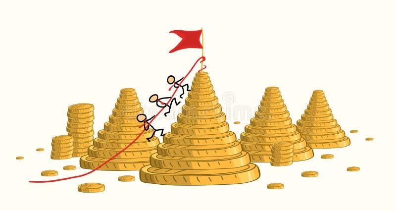 Ganhar a competição aumenta o rendimento ilustração stock