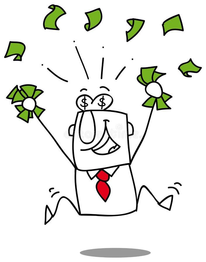 Ganhe o dinheiro ilustração royalty free