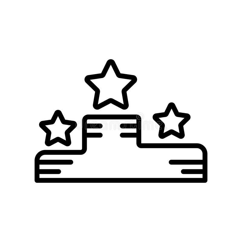 Ganhe o sinal e o símbolo do vetor do ícone isolados no fundo branco, Wi ilustração stock