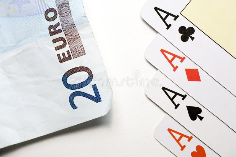 Ganho do póquer fotografia de stock royalty free
