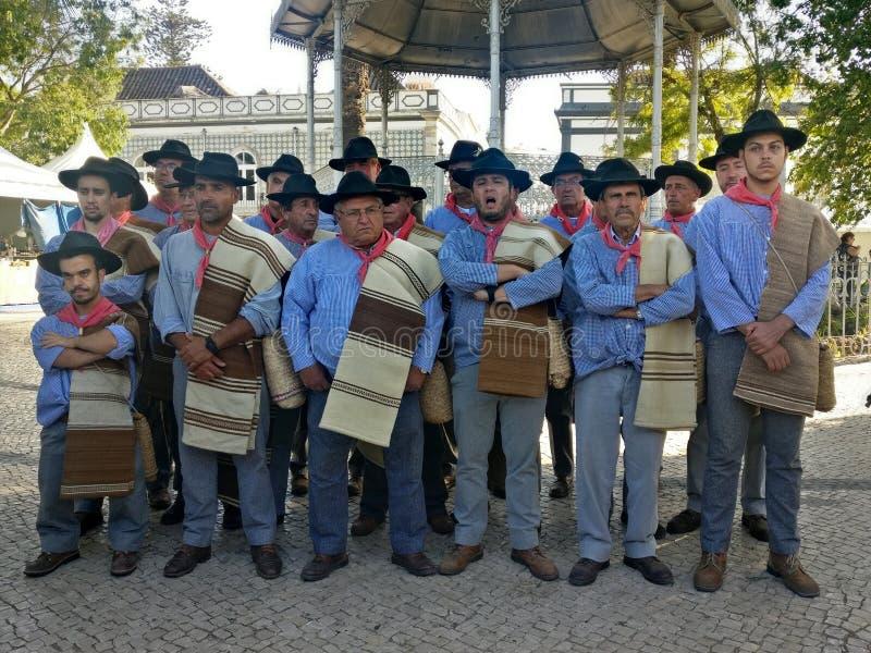 Ganhoes de Castro Verde, ένας παραδοσιακός φωνητικός άνδρας ομάδα στοκ εικόνες με δικαίωμα ελεύθερης χρήσης
