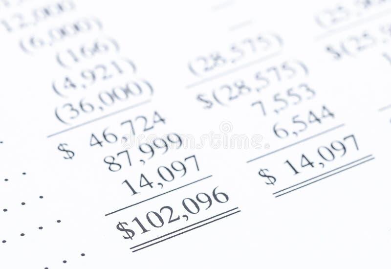 Ganhos líquidos do balanço financeiro imagens de stock royalty free