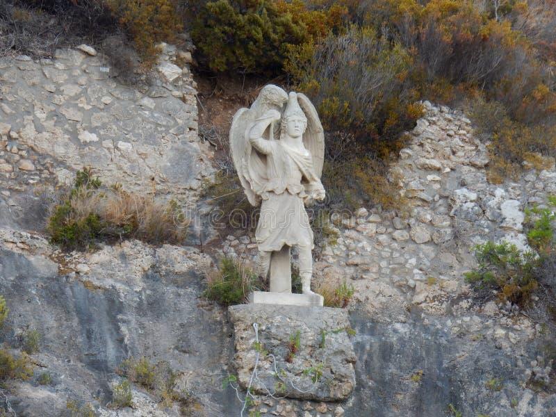 Ganimede en la cueva de Tiberian imagen de archivo libre de regalías