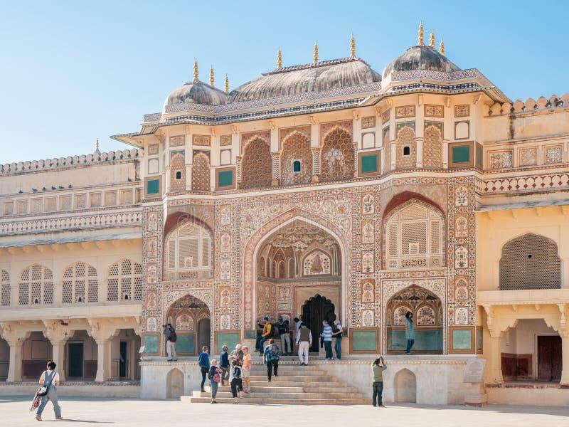 Ganosh Pol. in Amer Fort in Jaipur, India royalty-vrije stock afbeeldingen