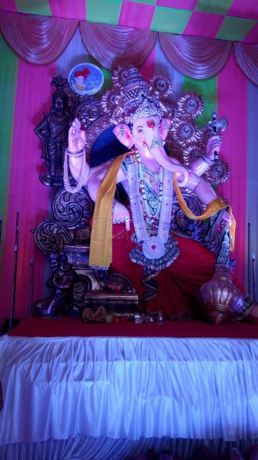 Ganpati idol. Near kandivali station royalty free stock image