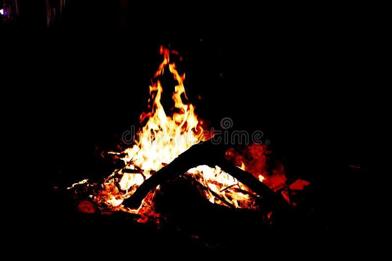 Ganpati in vlammen die voor echt wordt gezien royalty-vrije stock foto's