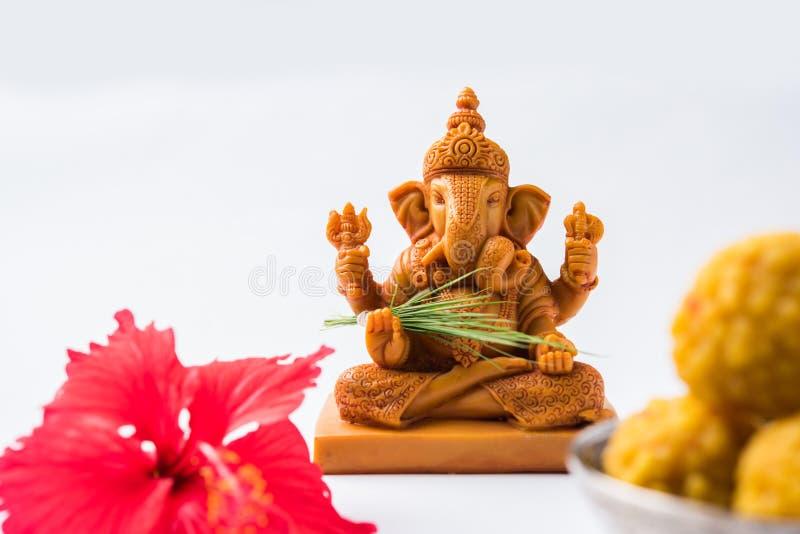 Ganpatigroet of de Groet van Lordganesha of gelukkige de groetkaart van ganeshchaturthi stock afbeelding