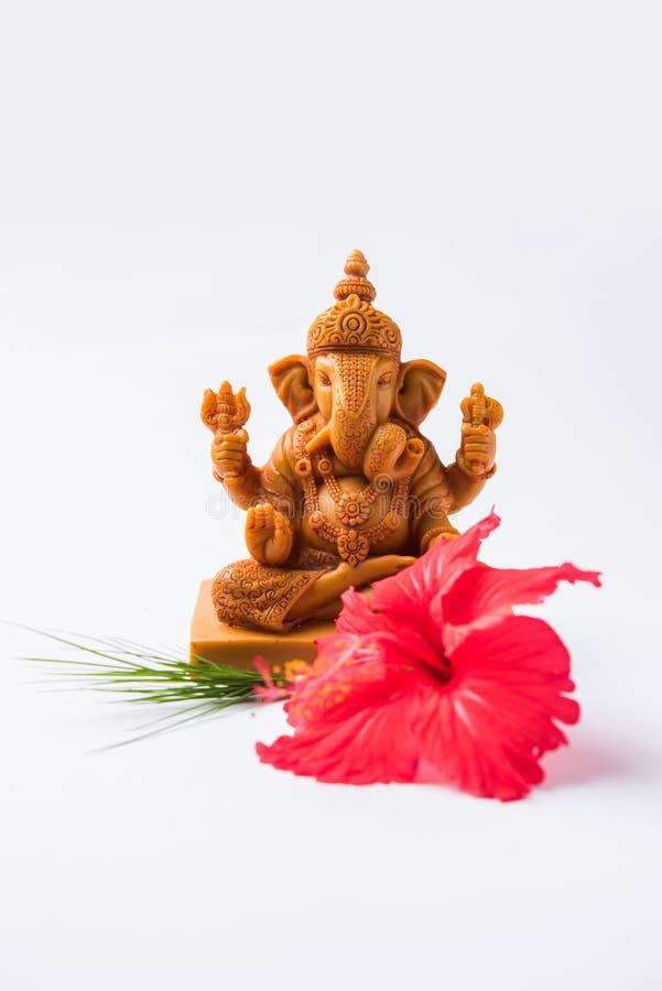 Ganpatigroet of de Groet van Lordganesha of gelukkige de groetkaart van ganeshchaturthi stock foto's