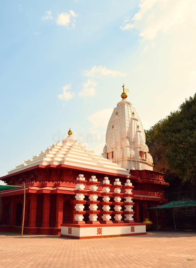 Ganpatipule Temple - An Ancient Hindu Temple in Ratnagiri, Maharashtra, India. This is a photograph of a famous ancient Hindu Temple, located in Ganpatipule in royalty free stock photo
