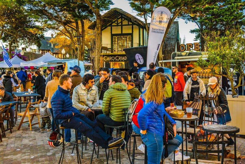 Ganska händelse för gata, Montevideo, Uruguay arkivbilder