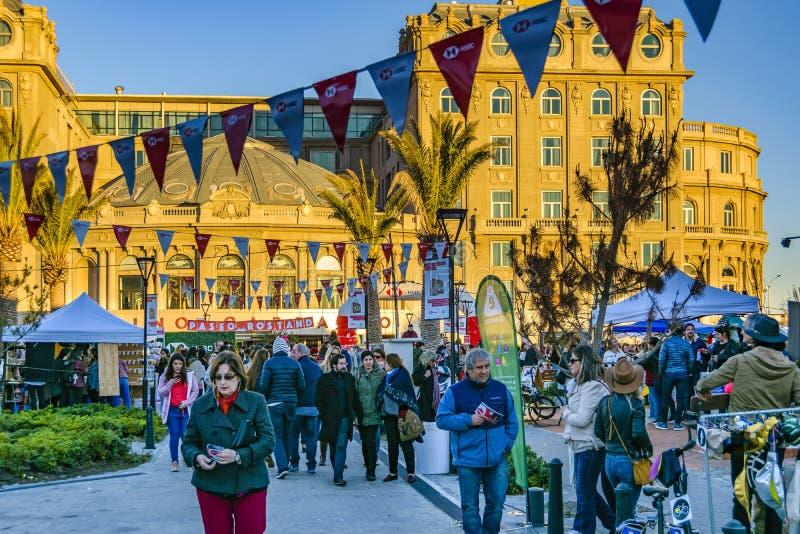 Ganska händelse för gata, Montevideo, Uruguay fotografering för bildbyråer