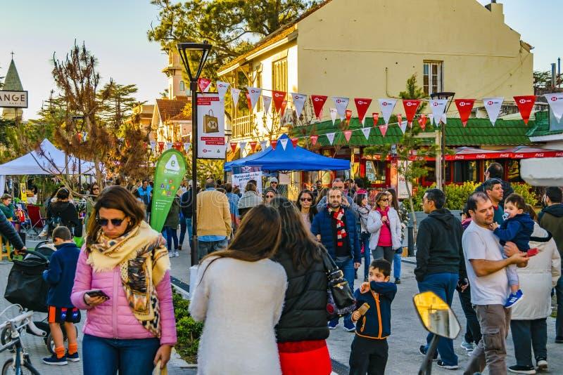 Ganska händelse för gata, Montevideo, Uruguay arkivbild