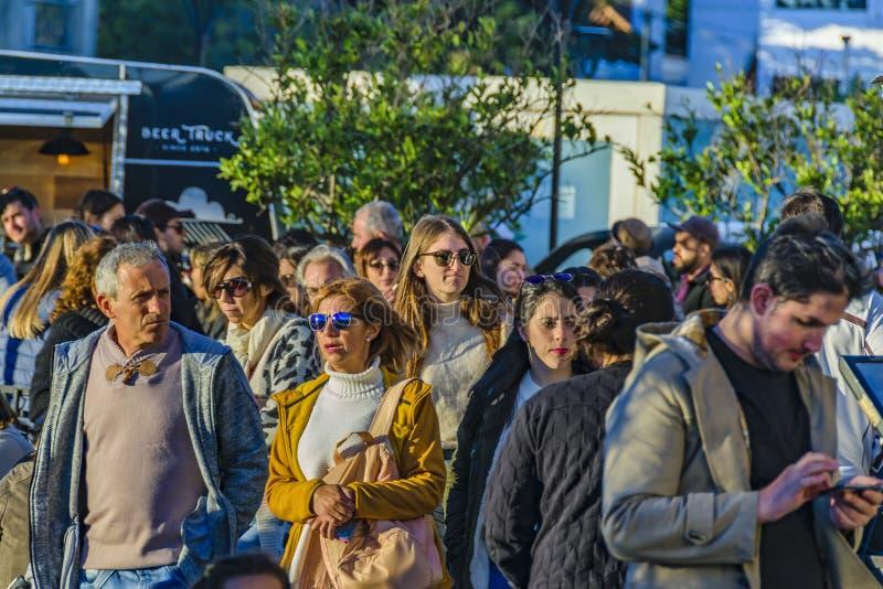 Ganska händelse för gata, Montevideo, Uruguay royaltyfri foto