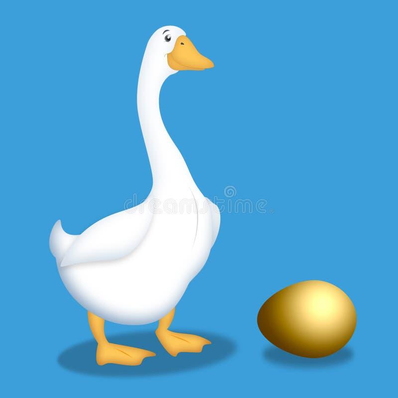 Ganso con el huevo de oro libre illustration