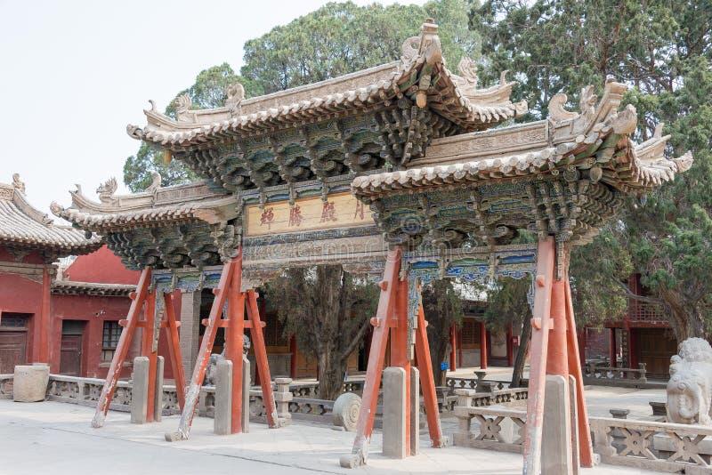 GANSU, CHINA - Apr 08 2015: Wuwei Confucian Temple (Wuwei Wen Mi. Ao). a famous historic site in Wuwei, Gansu, China stock image