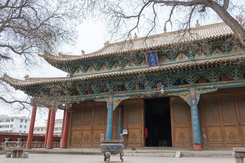 GANSU, CHINA - Apr 08 2015: Wuwei Confucian Temple (Wuwei Wen Mi. Ao). a famous historic site in Wuwei, Gansu, China royalty free stock photo