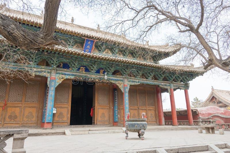 GANSU, CHINA - Apr 08 2015: Wuwei Confucian Temple (Wuwei Wen Mi. Ao). a famous historic site in Wuwei, Gansu, China royalty free stock images