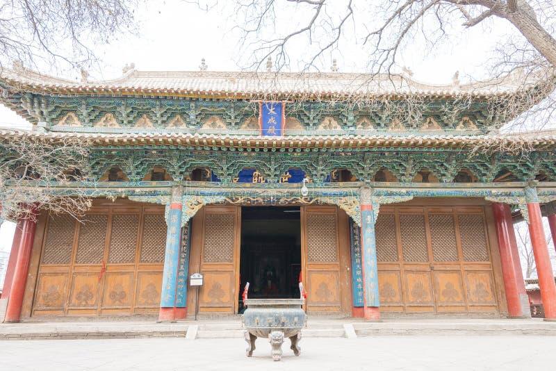 GANSU, CHINA - Apr 08 2015: Wuwei Confucian Temple (Wuwei Wen Mi. Ao). a famous historic site in Wuwei, Gansu, China stock images