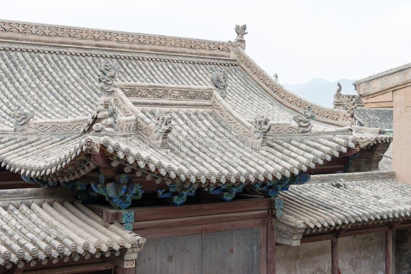 GANSU, CHINA - 6 de abril de 2015: Cacique Yamen del Lu un Histori famoso fotografía de archivo libre de regalías