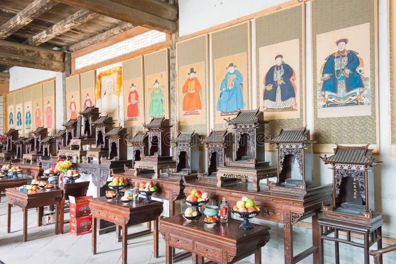 GANSU, CHINA - 6 de abril de 2015: Cacique Yamen del Lu un Histori famoso imagen de archivo