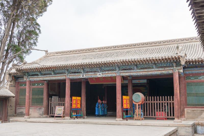 GANSU, CHINA - 6 de abril de 2015: Cacique Yamen del Lu un Histori famoso fotos de archivo libres de regalías