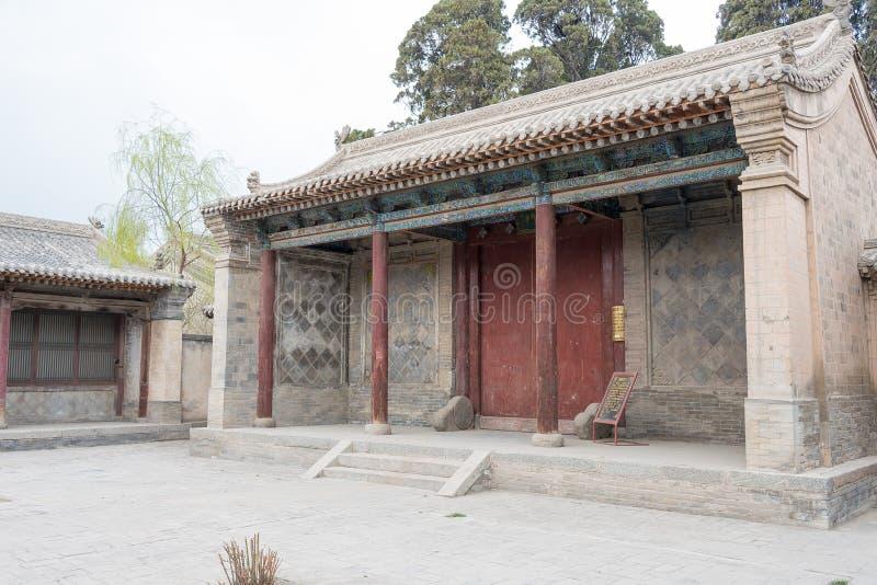 GANSU, CHINA - 6 de abril de 2015: Cacique Yamen del Lu un Histori famoso foto de archivo libre de regalías