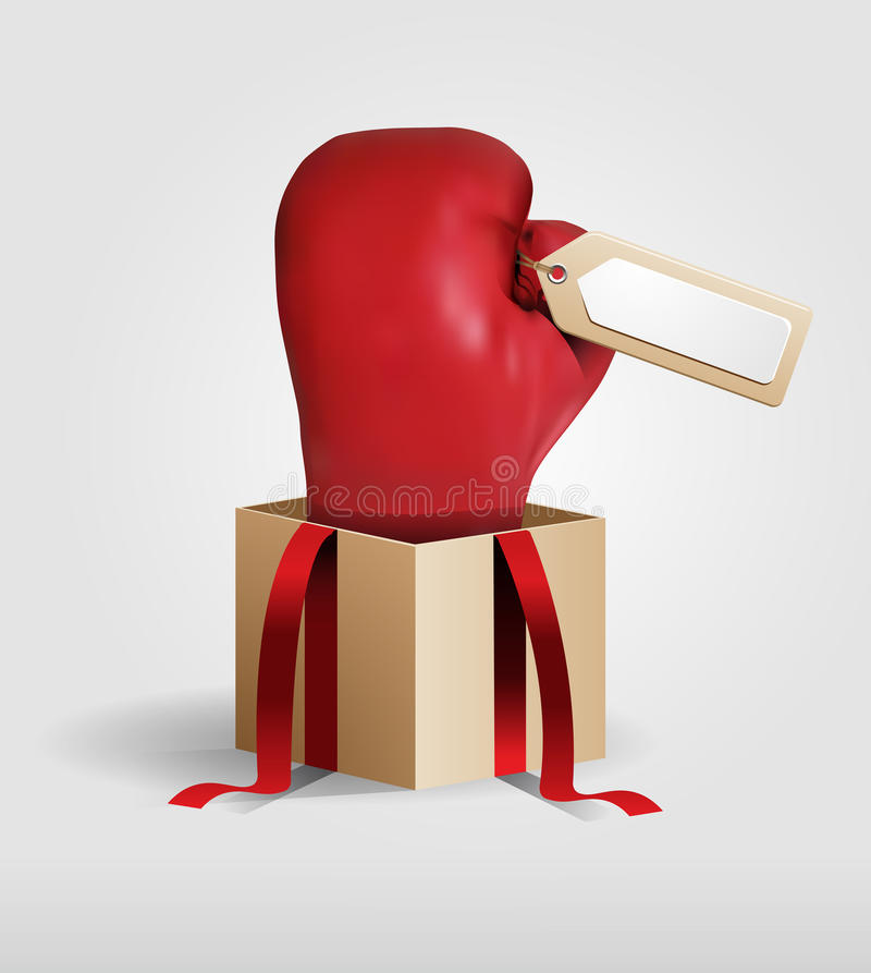 Gant créatif de achat de bleu d'idée de vente de lendemain de Noël illustration stock