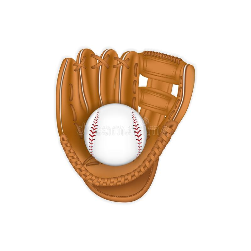 Gant de base-ball illustration libre de droits