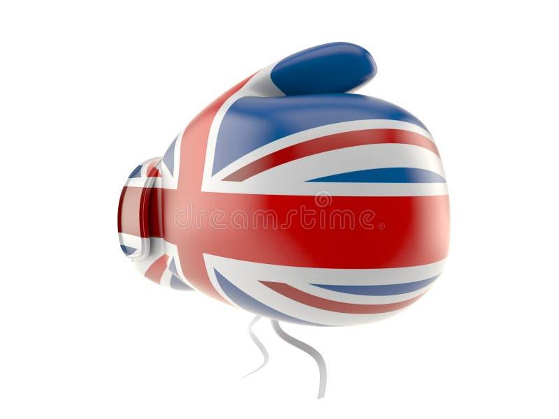 Gant de boxe avec le drapeau BRITANNIQUE illustration libre de droits