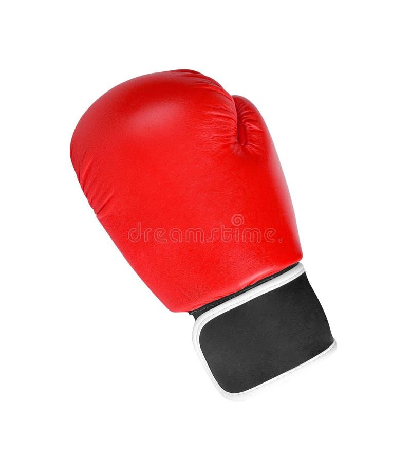 Gant de boxe rouge d'isolement sur le blanc photo libre de droits