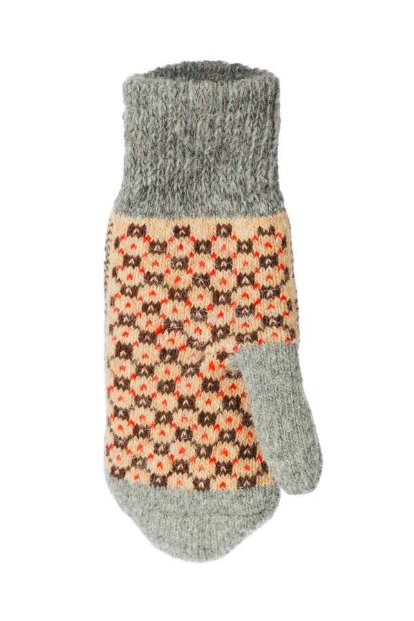 Gant de laine d'hiver images libres de droits