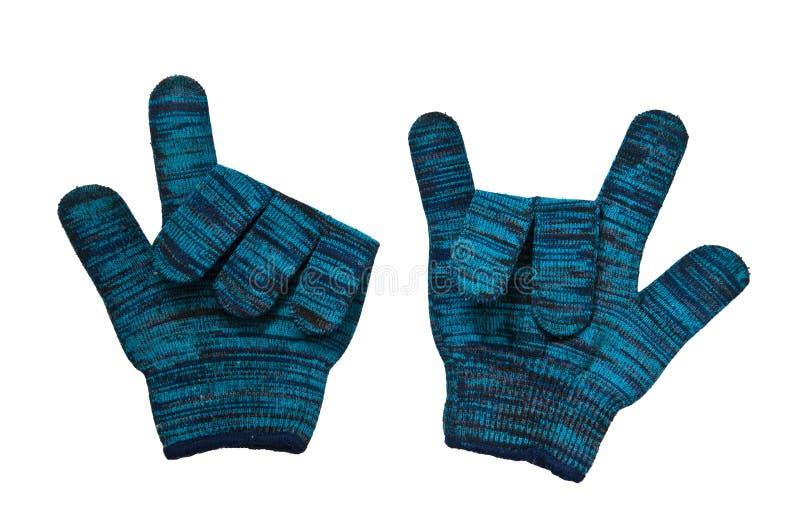 Gant tricoté par laines image stock