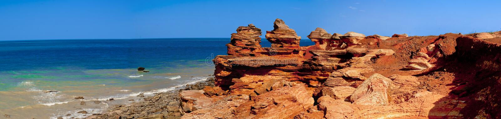 Gantheaume Point. At the southern end of Cable Beach, just out of Broome Western Australia, is Gantheaume Point. Experience the vibrant colours of the fabulous royalty free stock image