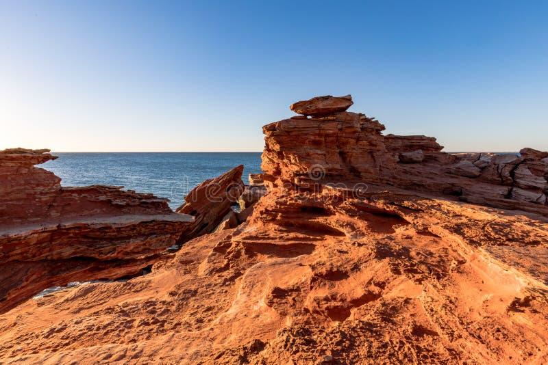 Gantheaume punkt przy zmierzchem, Broome, Kimberley, zachodnia australia, Australia zdjęcie stock