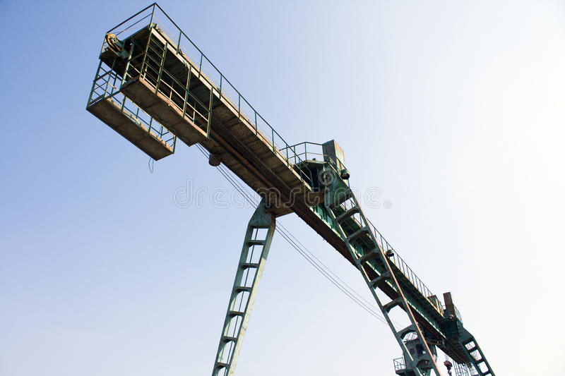 Gantry crane. Gantry faucet on a background sky royalty free stock photos