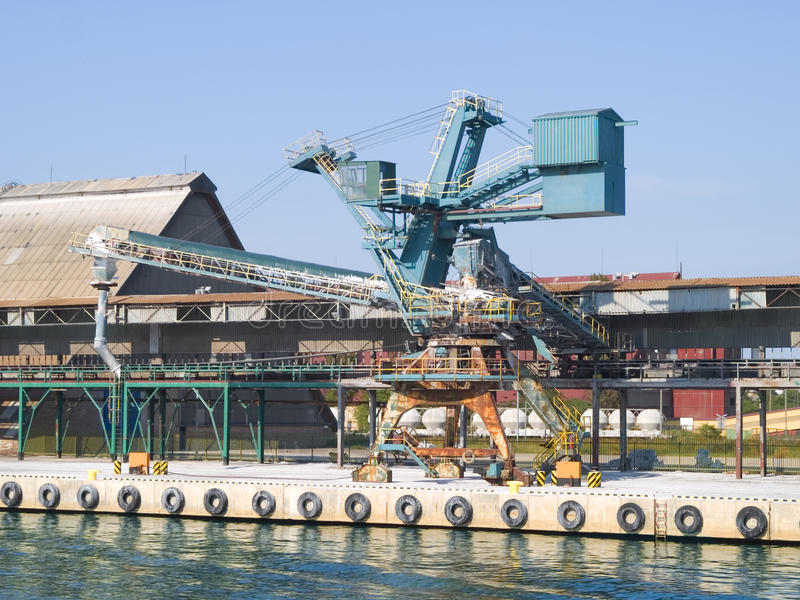 Gantry Crane. Photo of gantry crane in Gdansk, Poland stock photography