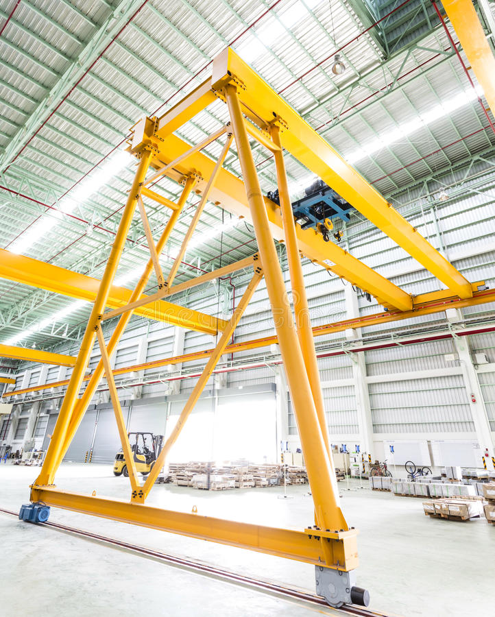 Gantry crane in factory. Thailand stock images