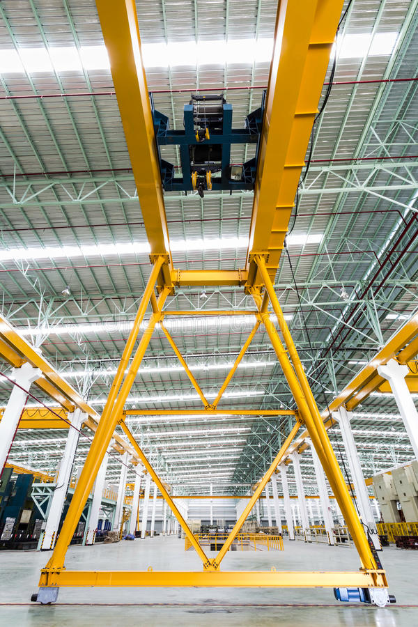 Gantry crane in factory. Thailand stock image